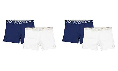 'B.U.M. Equipment Girls\' Active Playground Shorts - 4 Pack, Black, Black, Black, Black, Large - 10/12'
