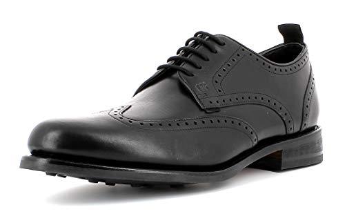 Gordon & Bros. Herren Businessschuh Levet 5660,rahmengenähte,Flexible Männer Schnürhalbschuhe,Goodyear Welted,Full-Brogue,Derby,Anzugschuh,Office-Schuh,Black,EU 44