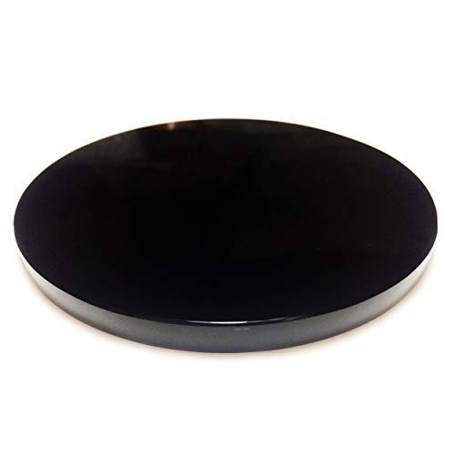 Polar Jade Espejo de obsidiana negra 125 mm de diámetr