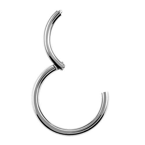 1 piezas de titanio con bisagras nariz tabique anillos de ar