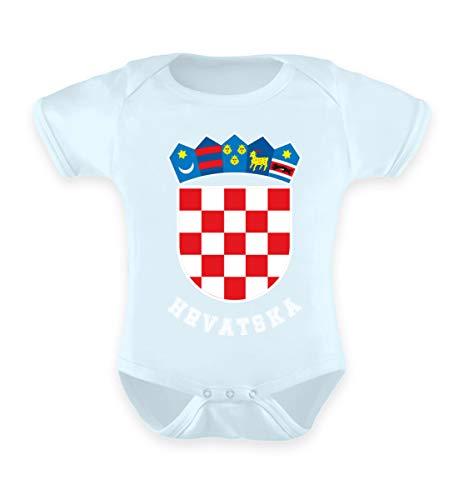 Kroatisches Wappen Hrvatska T-Shirt Kroatien Trikot Geschenk - Baby Body
