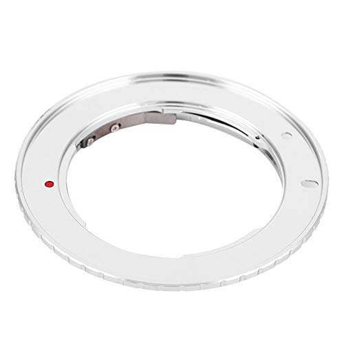 Oumij Lens Mount Adapter Ring Aluminum Alloy Manual Focus Lens Control Ring for M42 Screw Mount Lens to for Canon EOS M Mirrorless Camera