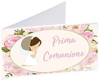 BIGLIETTI BIGLIETTINI PRIMA COMUNIONE  BOMBONIERE MASCHIO//FEMMINA STAMPA OMAGGIO