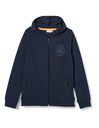 NAME IT Jungen NKMHASSELMUS LS Sweat Card WH UNB Sweatjacke, Dark Sapphire, 146-152