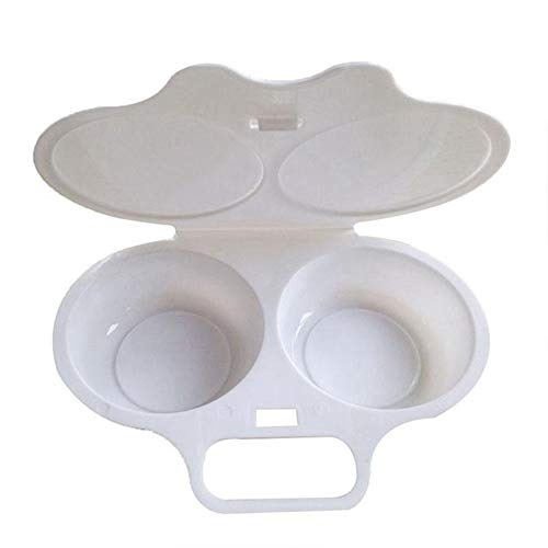 Tonguo Guitu - Molde para cocinar sin ensuciar, forma redonda, para microondas, horno frito, herramienta de huevo, escalfador de...