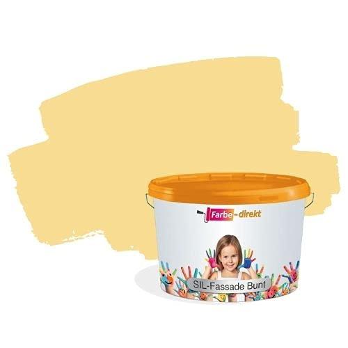 Hausfarbe Gelb Farbe-Direkt Fassadenfarbe Siloxan Sil Fassade bunt 5,0 Liter Honig 3 Aussen Günstig