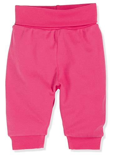 Schnizler Kinder Pump-Hose aus 100% Baumwolle, komfortable und hochwertige Baby-Hose mit elastischem Bauchumschlag, Rosa (Pink 18), 62