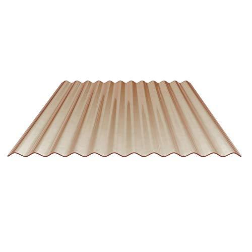 Lichtplatte | Wellplatte | Lichtwellplatte | Profil 76/18 | Material PVC | Breite 900 mm | Stärke 1,2 mm | Farbe Bronze