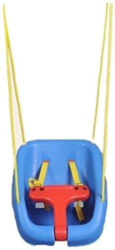 N\A Children's Indoor Home Baby Seat Outdoor Hanging Chair Blue Garden Chair Toy Belt Sturdy Rope (Color : Blue) (Color : Blue, Size : -)