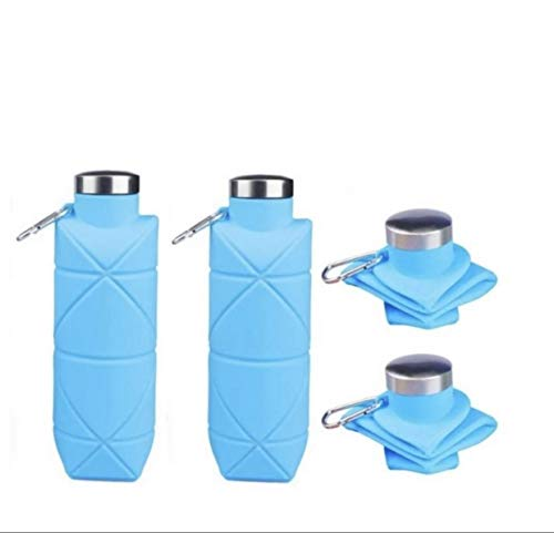 MELJUSA Collapsible Water Bottle I Includes 2 Reusable Water Bottle | BPA Free Water Bottles | Perfect Travel Water Bottle | Silicone Water Bottle