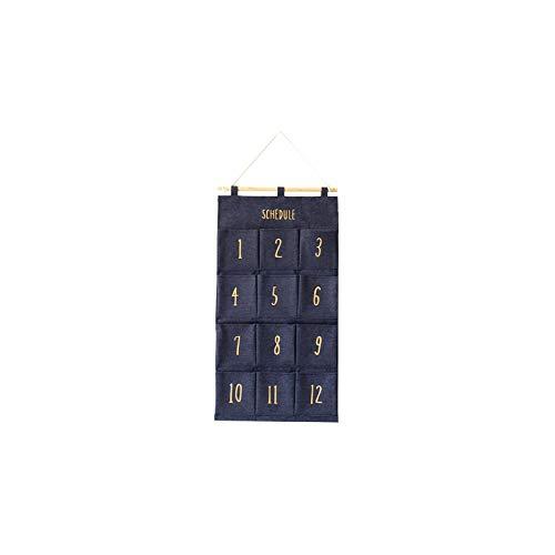 Parshall Bolsa de almacenamiento para colgar, organizador de bolsillo para colgar sobre la puerta, accesorios...