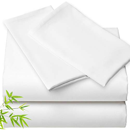 Bamboo Sheets Queen Size - 100% Bamboo Sheets 4pc, Bamboo...