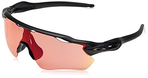 Oakley Men's OO9208 Radar EV Path Rectangular Sunglasses, Matte Black/Prizm Trail Torch, 38 mm
