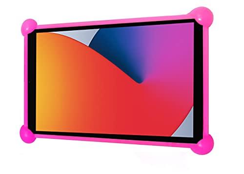 Funda Tablet Universal Silicona Valida para Todas Las Tablets pc del Mercado Desde 7' a 12' Fundas Tablets Universal Silicona (Rosa)