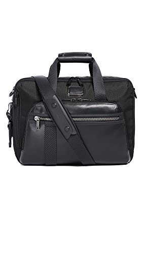 TUMI - Alpha Bravo Mountain Three Way Brief Laptop Briefcase - 15 Inch Computer Backpack Bag for Men and Women - Black