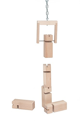 Fröbelturm - Das Original aus Buchenholz (natur, Standard (8-99 Jahre), mit Stoffbeutel)