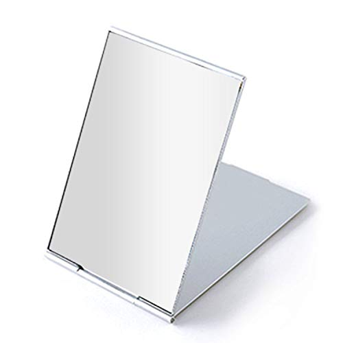 Portable Folding Mirror, Ultra-Slim Durable Makeup Mirror, Small Tabletop Mirror for Travel,Aluminum Shell, Mini Size, 4.5'