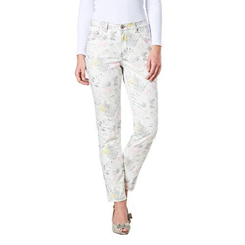 COLAC Damen Jeans Jenny Bunt mit Print Skinny Fit mit Stretch, 40W / 29L, Bunt mit Druck