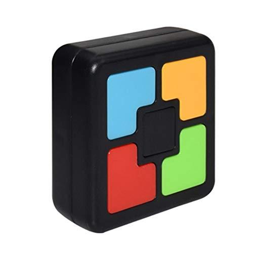 Simon Memory Spiel Maschine Kinder Lernspielzeug Mit Licht & Sound, Elektronisches Merkspiel Handkonsolen Interaktives Spielzeug Für Training Hand Gehirn Koordination (Quadrat)
