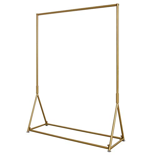 LM-Coat rack XINGLL Simple Styles Assemble Garment Racks, Iron Frame,Display Stand for Store Shelves Hall Hallway (Color : Gold, Size : 150CM)