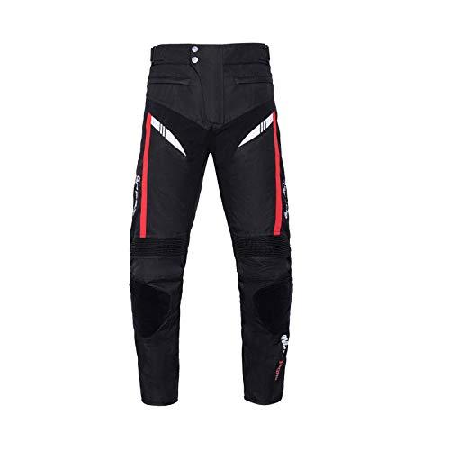 BEDSETS Pantalones de Moto Para Hombre, Pantalones de Mezclilla, Pantalones de Motocross, Jeans Con 2 Pares de Almohadillas Protectoras, Con Forro Protector (Devil black,XL)
