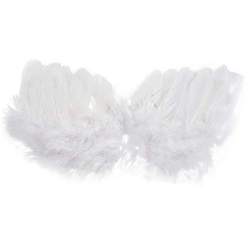 Kaxofang 0-6 mesces alas de Angel en plumas Accesorios para bebes con un halo