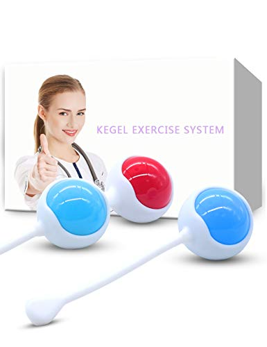 Kegel Balls Exercise Weights for Women, YTOY Female Ben Wa Balls Kegel Exercise Doctor Recommended, Silicone Bladder Control Pelvic Floor Exercises & Advanced Tightening
