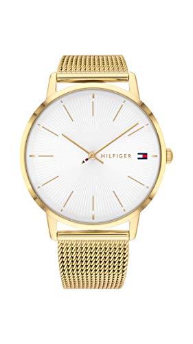 Tommy Hilfiger Damen Analog Quarz Uhr mit Edelstahl Armband 1782245