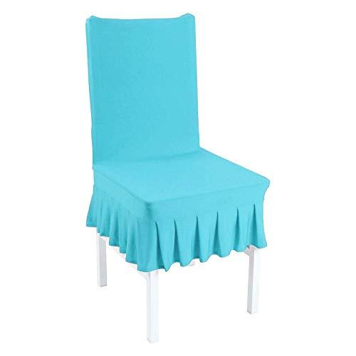 BANGSUN Fundas para silla de comedor con volantes y protectores de licra elásticos