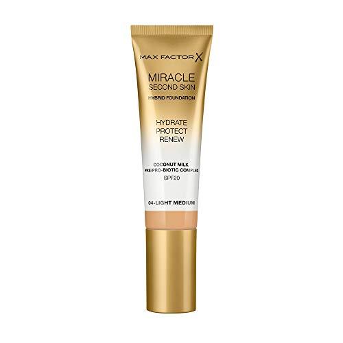Max Factor Miracle Second Skin Foundation LSF 20 - Farbe 04 Light Medium, 30 ml