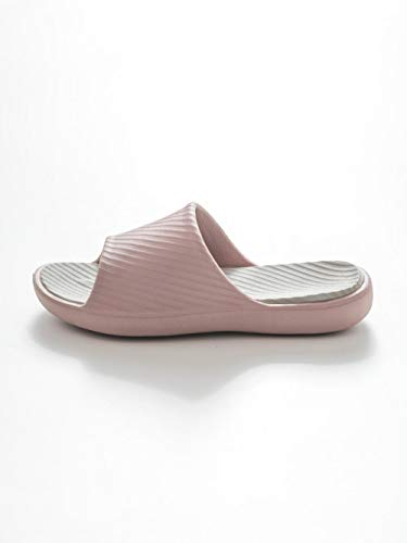 HUSHUI Bañarse Sandalias Zapatillas para Mujer,Baño Zapatillas Antideslizantes de baño, Pareja Sandalias de Fondo Suave-Pink_39-40,Zapatos de Playa y Piscina para