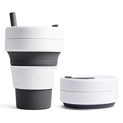 Stojo–faltbarer, wiederverwendbarer KaffeebecherBiggie slate