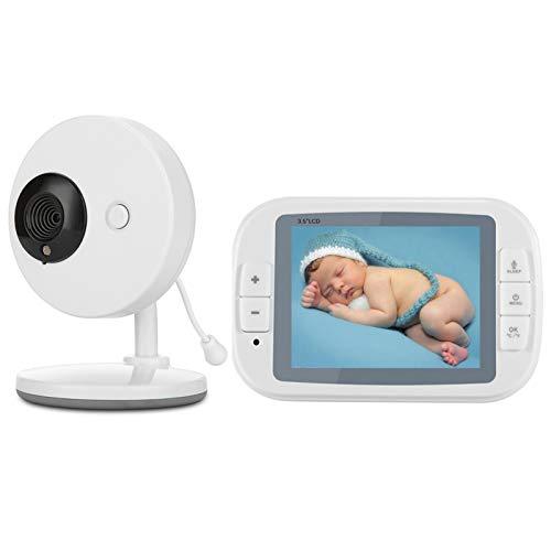 Vigilabebé Bebé Monitor Inteligente LCD 3.5' Cámara Visión Nocturna Cámara Vigilancia Bebé Temperatura Diálogo Canción De Cuna Puede Conectar 4 Cámaras