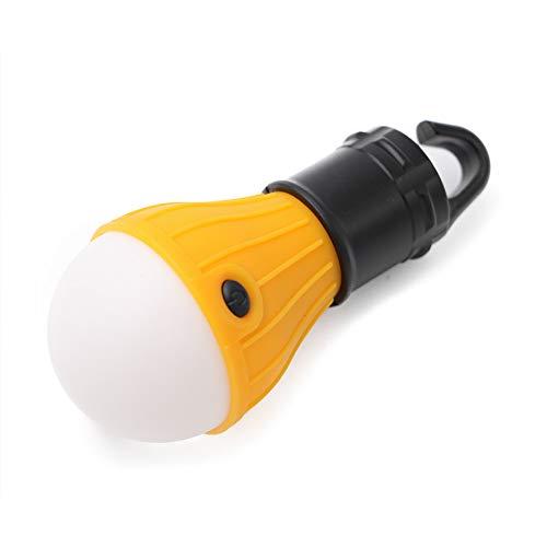ZZKK mini-lantaarn Tent Light LED-lamp noodlamp waterdichte haak voor het ophangen zaklamp voor camping, 4 verpakkingen gebruiken 3 x AAA, geel