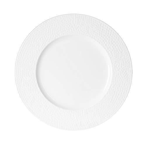 Table Passion - Assiette plate louna relief blanc 27 cm (lot de 6)