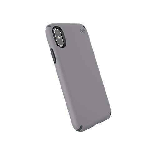 Speck iPhone XS Schutzhülle Handyhülle Schützende Hülle Tasche Dünne Schale Hardcase Beständig für Apple iPhone XS - Presidio Pro - Grau