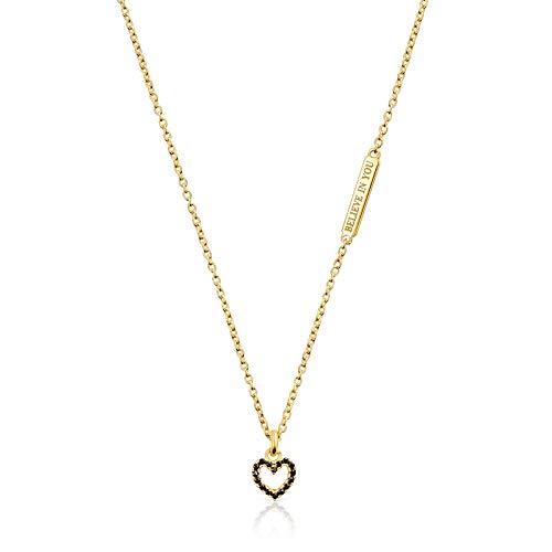 TOUS Collar San Valentín con colgante corazón de plata vermeil