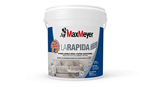 MaxMeyer Pittura per interni Lavabile La Rapida BIANCO 4 L