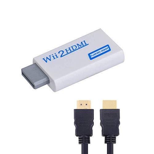 Alioay HDMIコンバーター Wii to HDMI変換アダプター WiiをHDMI接続に変換 720p/1080p HD HDMIケーブル付