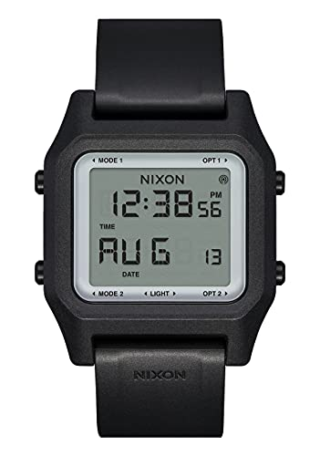 Nixon Herren Digital LCD-Digitalmodul Uhr mit Silikon Armband A1309867-00