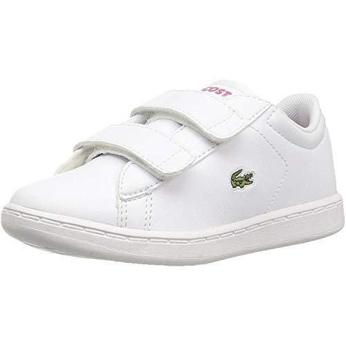 Lacoste Unisex-Child Carnaby EVO BL 2 Sui Sneaker, Weiß (B53 White/Pink), 26 EU