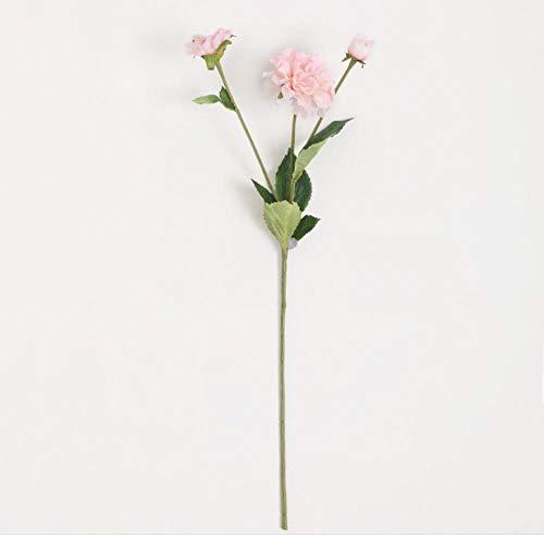 FILWHT Flor artificial simulación de flores falsas, casa, oficina, jardín, patio, patio o decoración al aire libre, Rosa, 3 piezas