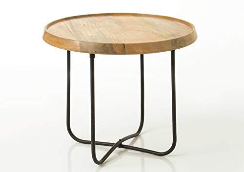 Amadeus - Table Basse Ronde en Bois et métal 55 cm