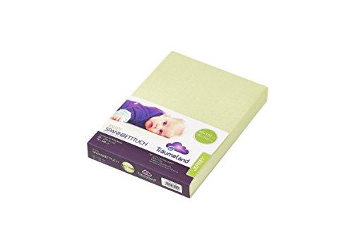 Träumeland TT02053 Jersey Spannbetttuch für Babymatratze 60 x 120 cm, grün