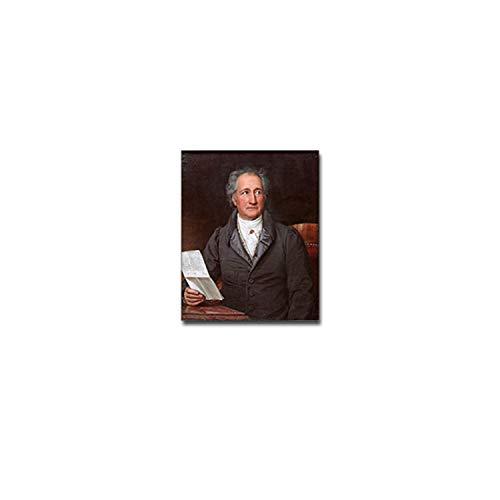 Göthe Aufkleber Sticker Johann Wolfgang von Goethe Dichter Lyrikjer 6x7cm#A3888