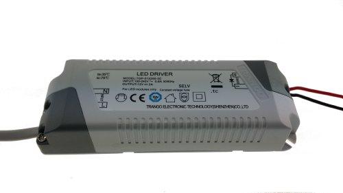 Trango TGP-012200 LED Transformator 12 Volt DC - 2A – 24 Watt – Trafo, Niedervolt Netzteil, LED Driver für MR16, GU5.3, G4 LED Leuchtmittel, Stripe, Band, lampen nicht dimmbar