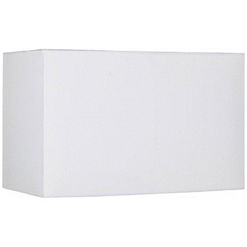 White Medium Rectangular Hardback Lamp Shade 16