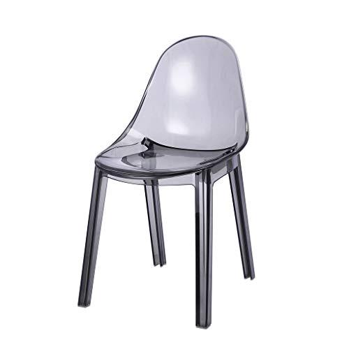 CJH Crystal Rugleuning Stoel Verdikking Kunststof Huishoudelijke Eettafel Kruk Nordic Stijl Comfortabele bureaustoel
