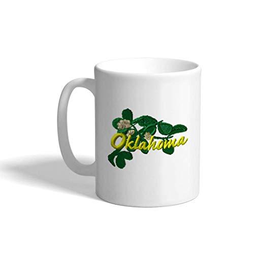 Keramische grappige koffie mok koffie kop maretak Oklahoma witte thee Cup 11 Ounces