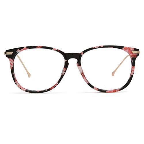 Redondo retro gafas de lectura for hombres y mujeres, Personalidad Telescopio tendencia, antifatiga, lentes de resina de alta definición (Color : Red, Size : 1.0x)